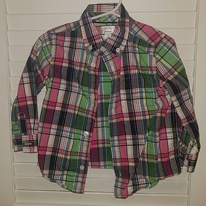 Gymboree long sleeve button down shirt 2T